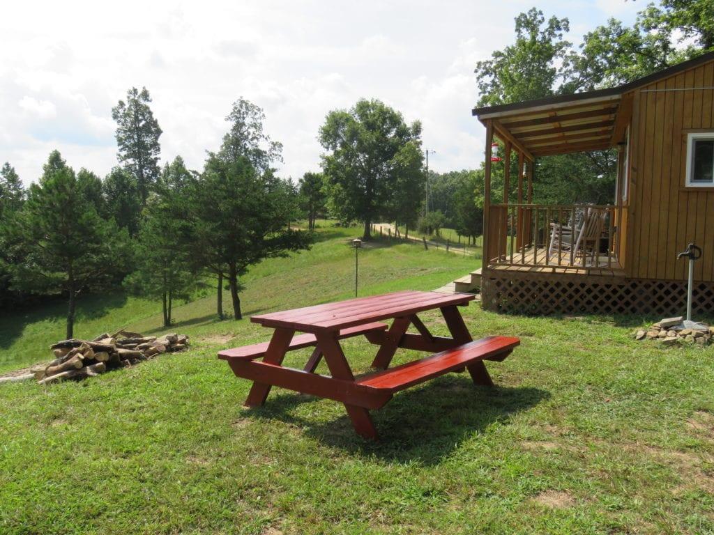Hilltop picnic table